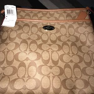 Coach Signature Coated Canvas File Bag F34938
